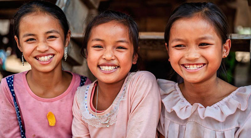children from laos